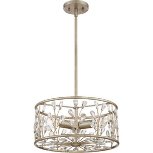 Best Reviews Mccaulley 3-Light Crystal Chandelier By House of Hampton