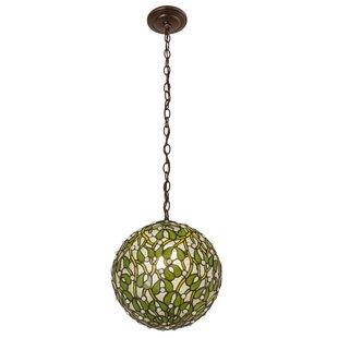 Mistletoe 1-Light Pendant by Meyda Tiffany