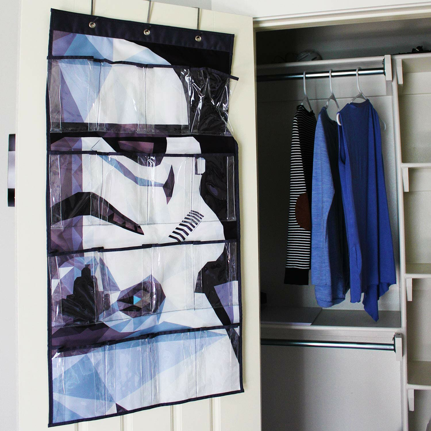 Everything Mary Disney Star Wars Shelves Collapsible Hanging Organizer 8 Pair Clothing Towel Storage For Closet And Bedroom Wayfair