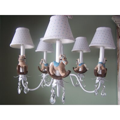 Silly bear baby rocking horse 5 light shaded chandelier wayfair baby rocking horse 5 light shaded chandelier aloadofball Image collections