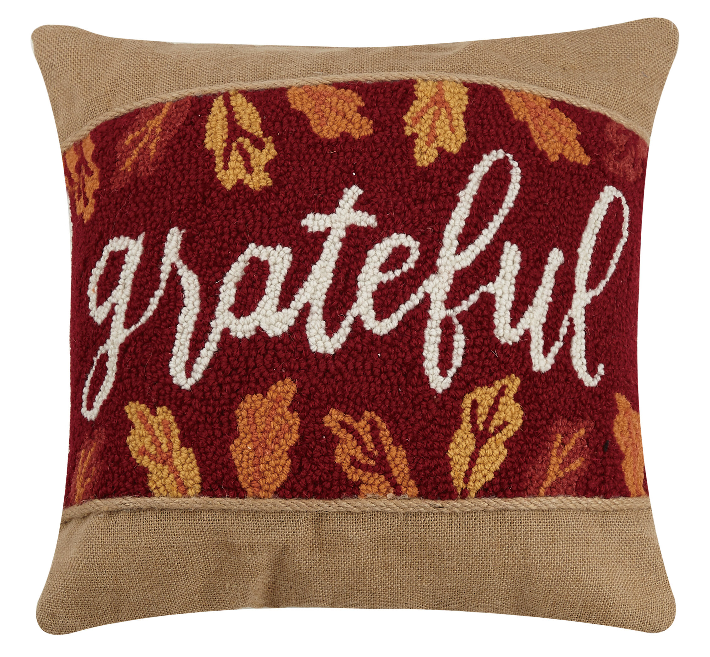Millwood Pines Winon Grateful Hook Wool Throw Pillow Wayfair