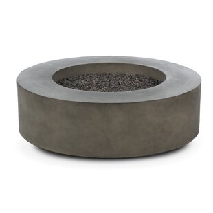 Freeport Park Erykah Concrete Propane/Natural Gas Fire Pit Table