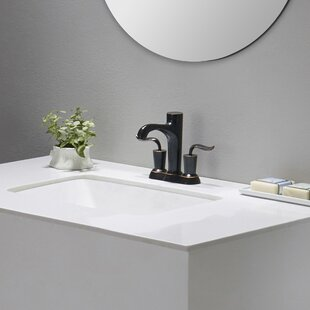 Elavo Ceramic Rectangular Undermount Bathroom Sink With Overflow