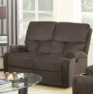 Torgerson Leather Motion Reclining Loveseat