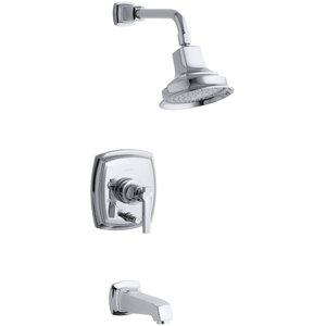 Margaux Rite-Temp Pressure-Balancing Bath and Shower Faucet Trim with Push-Button Diverter and Lever Handle, Valve No...