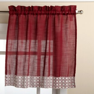 Red Kitchen Curtains Tiers Set | Wayfair
