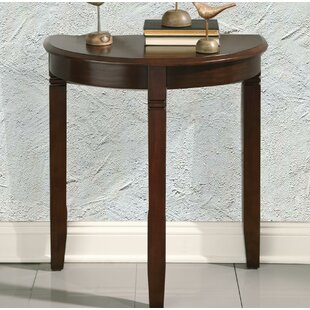 Palen Wooden Half Moon Console Table by Canora Grey