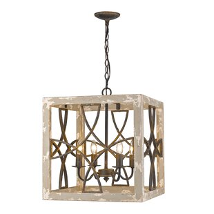 Baudette 4-Light Square Pendant