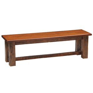 Reclaimed Barnwood Bench by Fireside Lodge