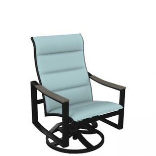 Brazo Padded Sling Swivel Action Patio Chair