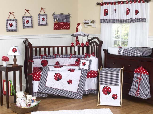 Little Ladybug 9 Piece Crib Bedding Set