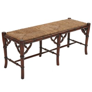 Chinoiserie Wood Bench by Manor Born Furnishings