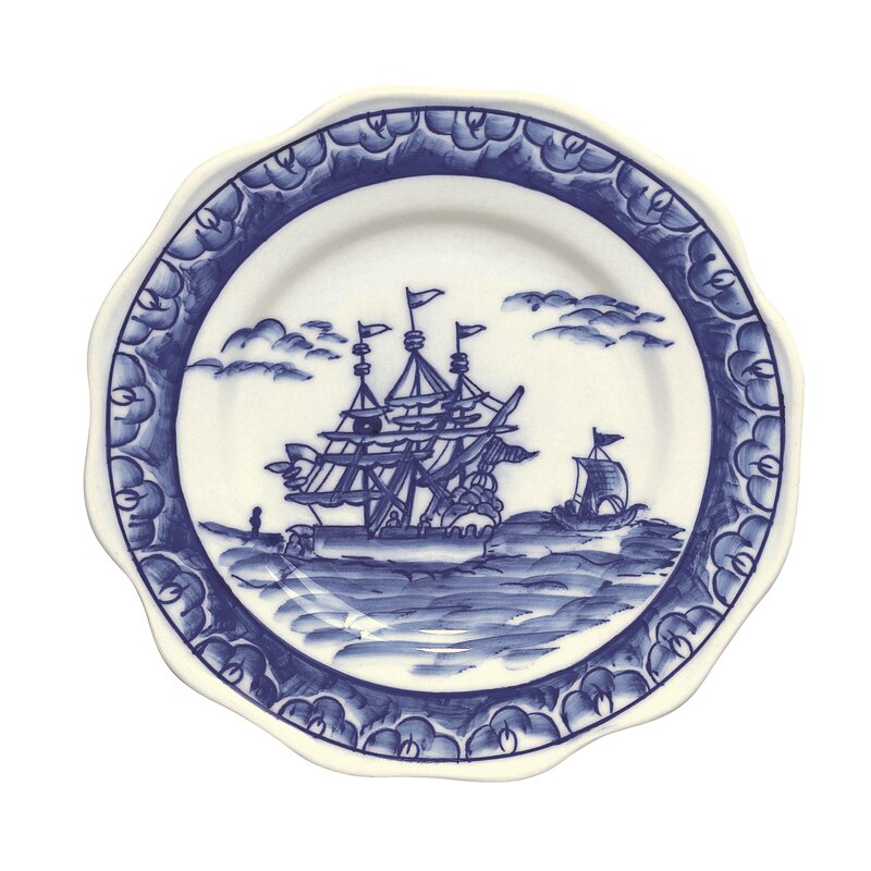 Eastern Export Decorative Plate #sailboat #blueandwhiteplate