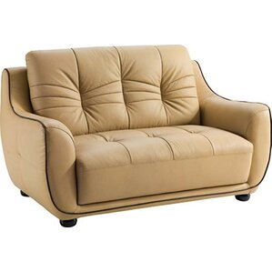 Claypool Leather Loveseat by Latitude Run