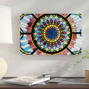 East Urban Home Stained Glass Atrium Window Museum Of Applied Arts Budapest Hungary Photographic Print On Canvas Wayfair