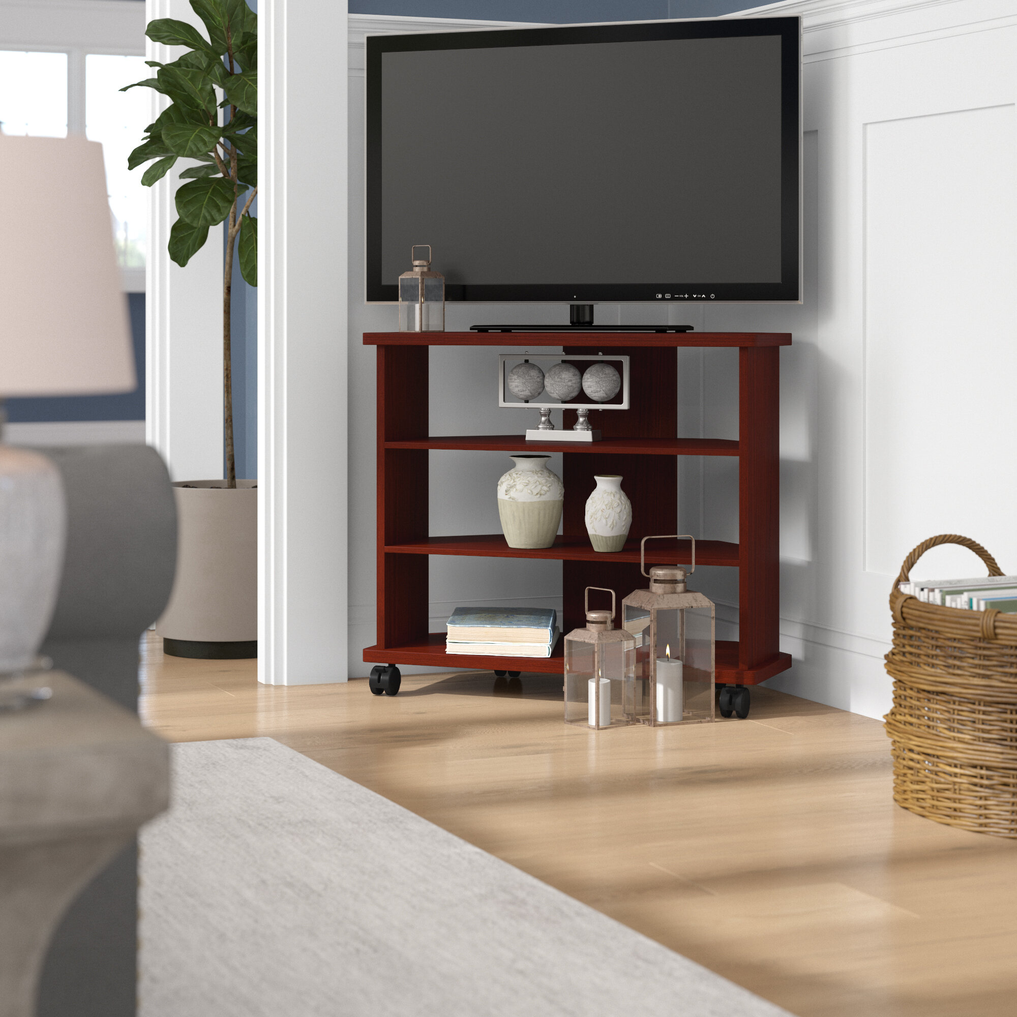 Picture of: Winston Porter Petrovich Corner Tv Stand For Tvs Up To 32 Reviews