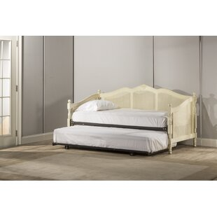 Coles Caneback Wood Twin Daybed with Trundle by Rosecliff Heights
