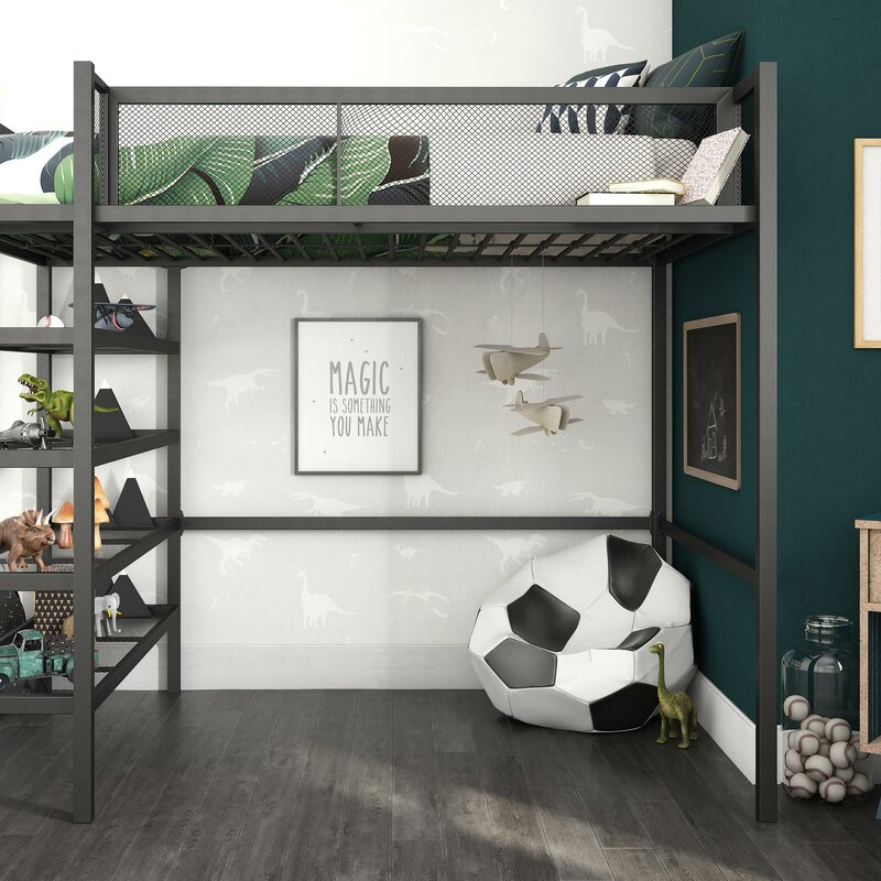Superieur Debbi Twin Loft Bed With Bookcase