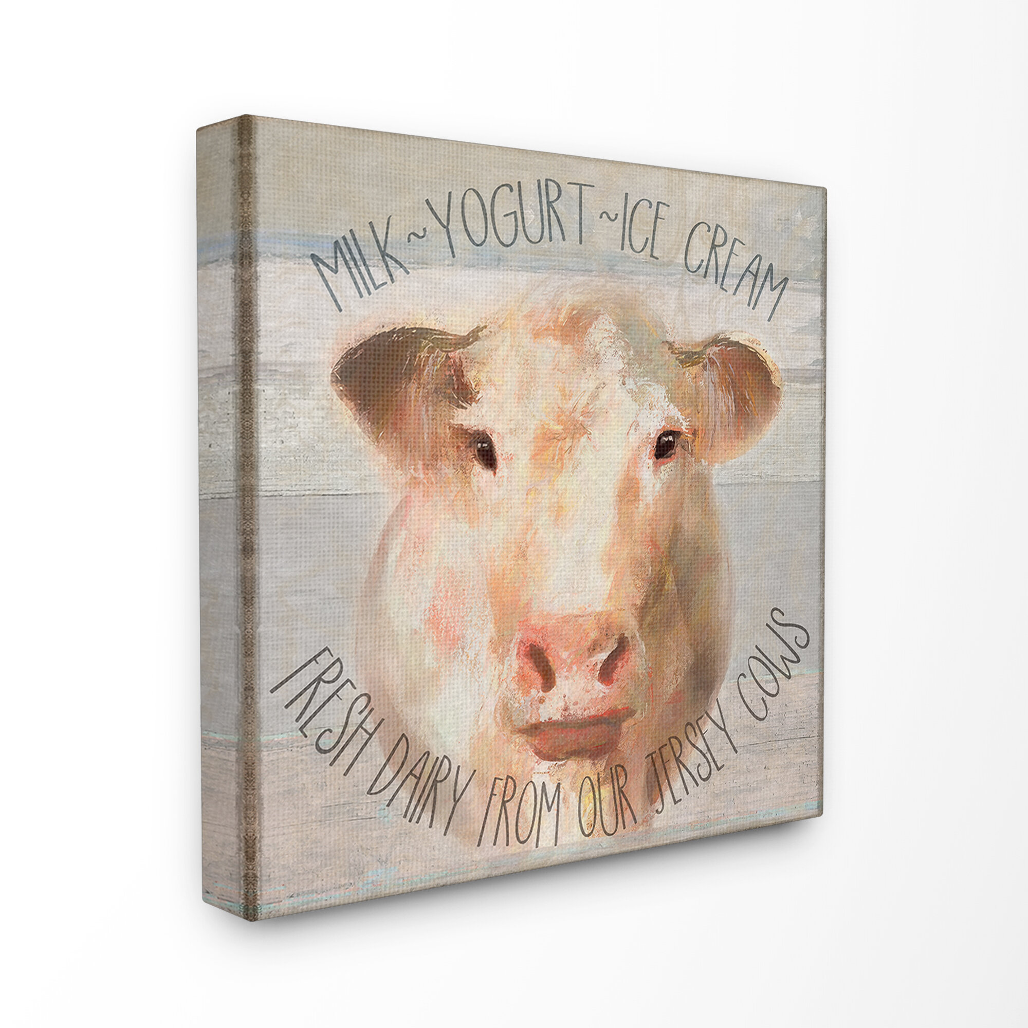 Gracie Oaks Farmhouse Rustic Look Fresh Dairy From Jersey Cows Sign By Cora Niele Graphic Art Print Wayfair