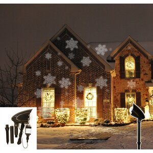 3 Light Snowflake Projector Light