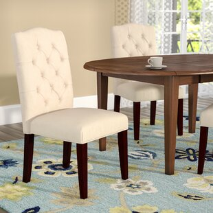 Laurel Foundry Modern Farmhouse Rosewood Upholstered Dining Chair (Set of 2)