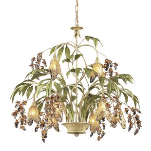 Beachcrest Home Evelyne 8-Light Shaded Chandelier