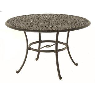 Merlyn Metal Dining Table by Fleur De Lis Living