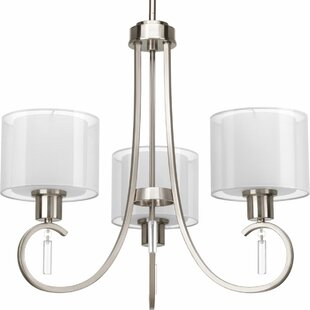 Red Barrel Studio Ernestina 3-Light Shaded Chandelier