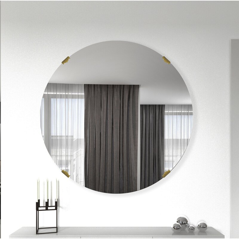 Roy Glam Frameless Bathroom Mirror