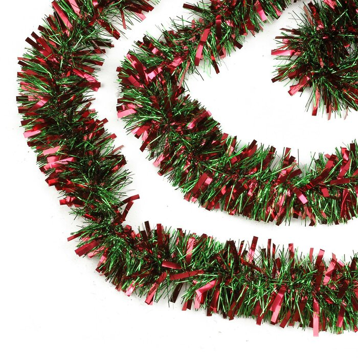 Christmas Tinsel Garland.50 Festive Thick Cut Christmas Tinsel Garland
