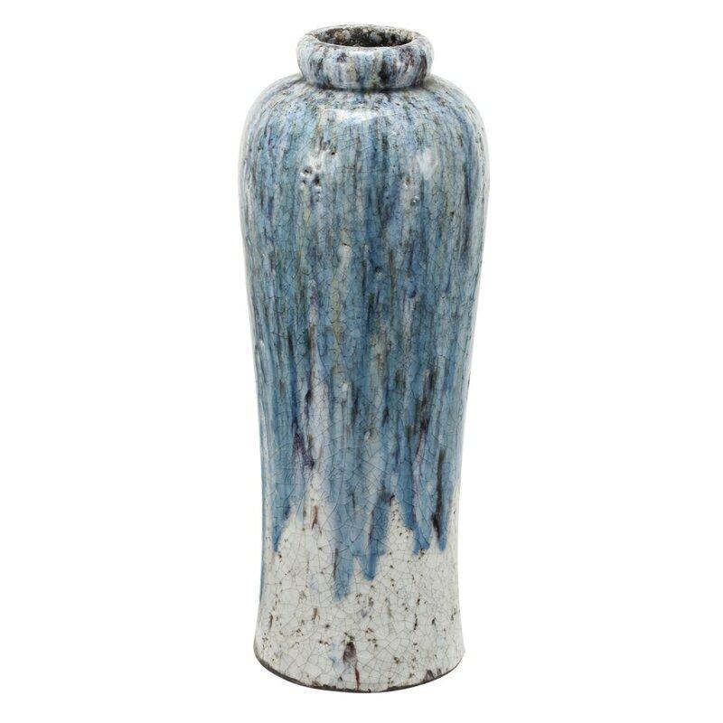 World Menagerie Oslo Beautifully Textured Terracotta Floor Vase