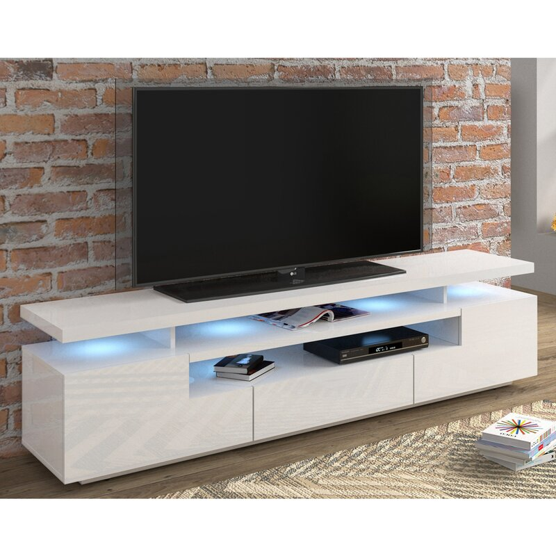Home Furniture Diy Entertainment Centres Tv Stands High Gloss Matt Body Designer Tv Stand Led Tv Cabinet Unit With Glass Shelf Draw Bortexgroup Com