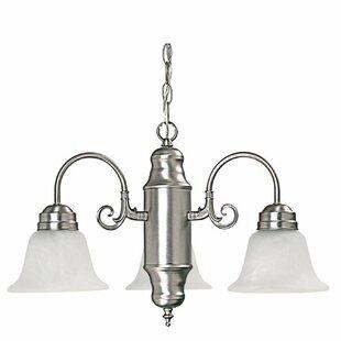 Capital Lighting 3-Light Shaded Chandelier