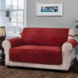 T-Cushion Loveseat Slipcover with Straps