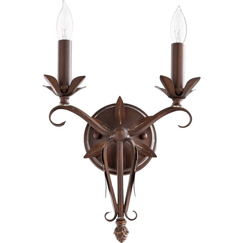 Harnois 2-Light Candle Wall Light - a beautiful French country wall sconce for your French inspired home.