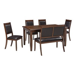 dining room table sets with a bench. chavers 6 piece dining set room table sets with a bench