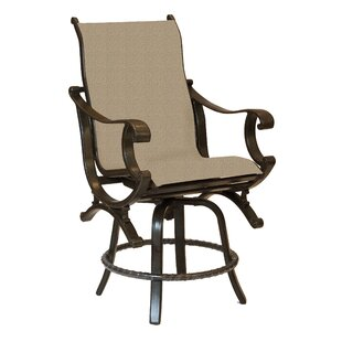 Rialto Sling Swivel Patio Bar Stool