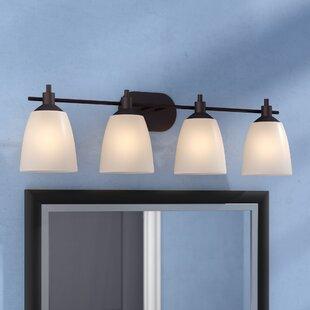 Read Reviews Glen Forest 4-Light Vanity Light ByAndover Mills