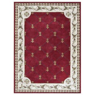 Online Reviews Knecht Hand-Tufted Wool Red White Area Rug By Alcott Hill
