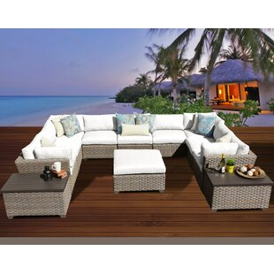 Monterey 12 Piece Sectional Seating Group with Cushions