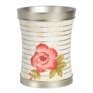 Sweet Home Collection Floral Waste Basket
