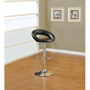 Creasman Adjustable Height Swivel Bar Stool (Set of 2) by Orren Ellis