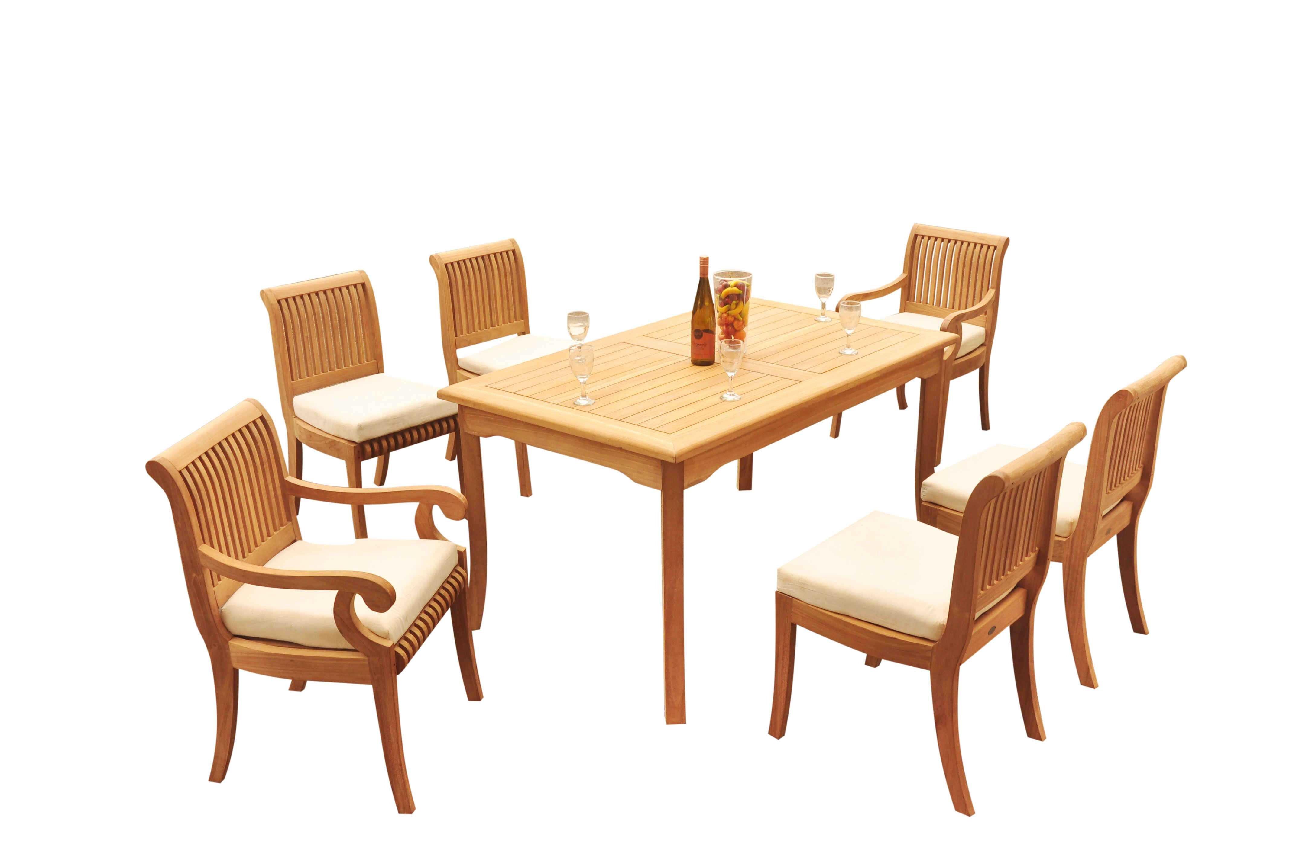 Rosecliff Heights Massenburg 7 Piece Teak Dining Set Wayfair