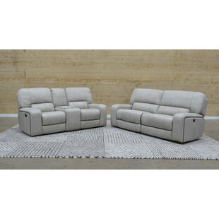 Latitude Run Aleverson Console Reclining Loveseat