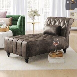 Andrews New Velvet Chaise Lounge by Mercer41