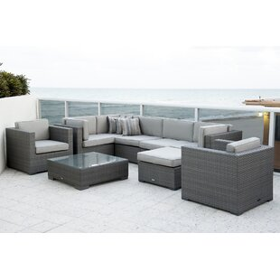 International Home Miami Southampton 9 Piece Sectional Set with Cushions