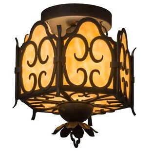 Meyda Tiffany Radha 1-Light Semi Flush Mount