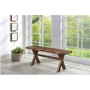 Gracie Oaks Barron Wood Bench