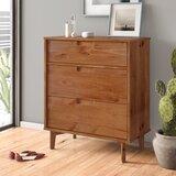 Stephenson Groove Handle Wood 3 Drawer Chest