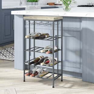 Wilcoxen Rustic 4-Tiered Tabletop Wine Bo..